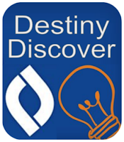 Destiny Discover Button to access library resources